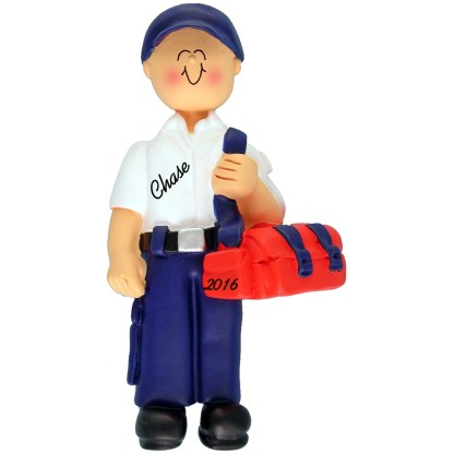 EMT male personalized christmas ornament