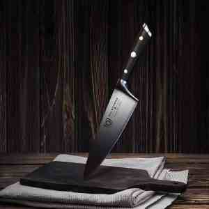 Best Chef Knife with kitchen towel and chopping board, the complement of each other