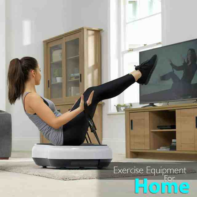 Woman trying to fit herself with the Best Home Exercise Equipment