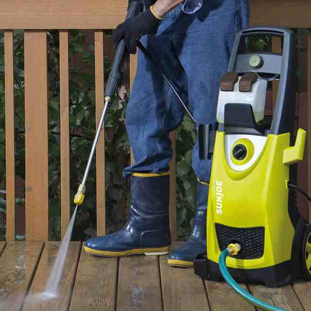 Washing activity with the Best Electric Pressure Washer for a clean exterior