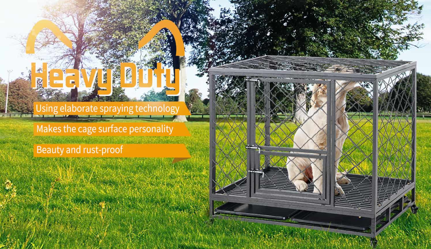 Heavy Duty Dog Crate as the first related product of the Best Dog Crate