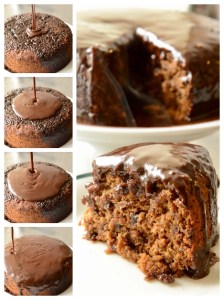 Sticky Date Pudding cake with chocolate whisky sauce