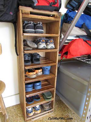 diy shoe rack from scrap wood call me pmc