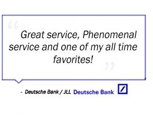 Deutsche Bank testimonial