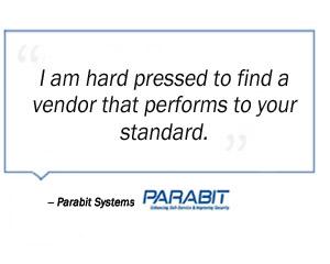 Parabit Systems testimonial