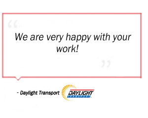Daylight Transport testimonial