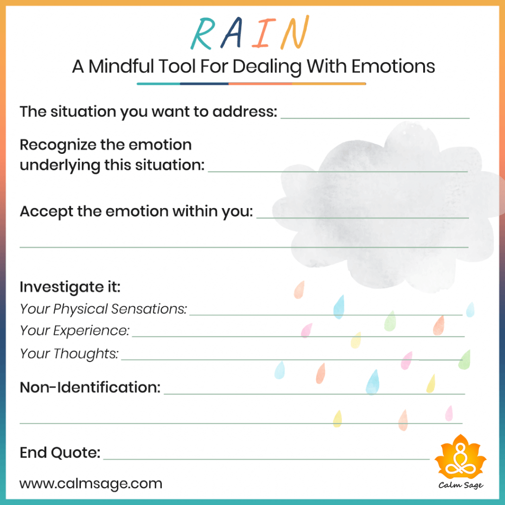 Rain Mindfulness Tool To Deal With Your Overwhelming Emotions