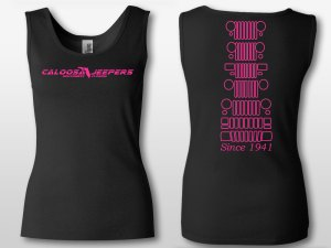 Caloosa Jeepers Ladies Black Grills Tank