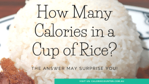 How many calories in a cup of Rice?