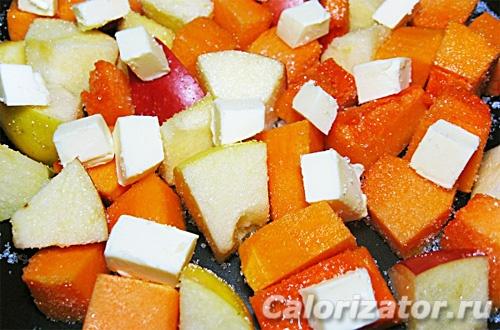 Тыква с яблоками в мультиварке - как приготовить, рецепт с ...