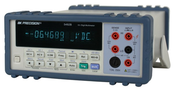 B&K Precision 5492B True RMS Bench Digital Multimeter 5.5 Digit