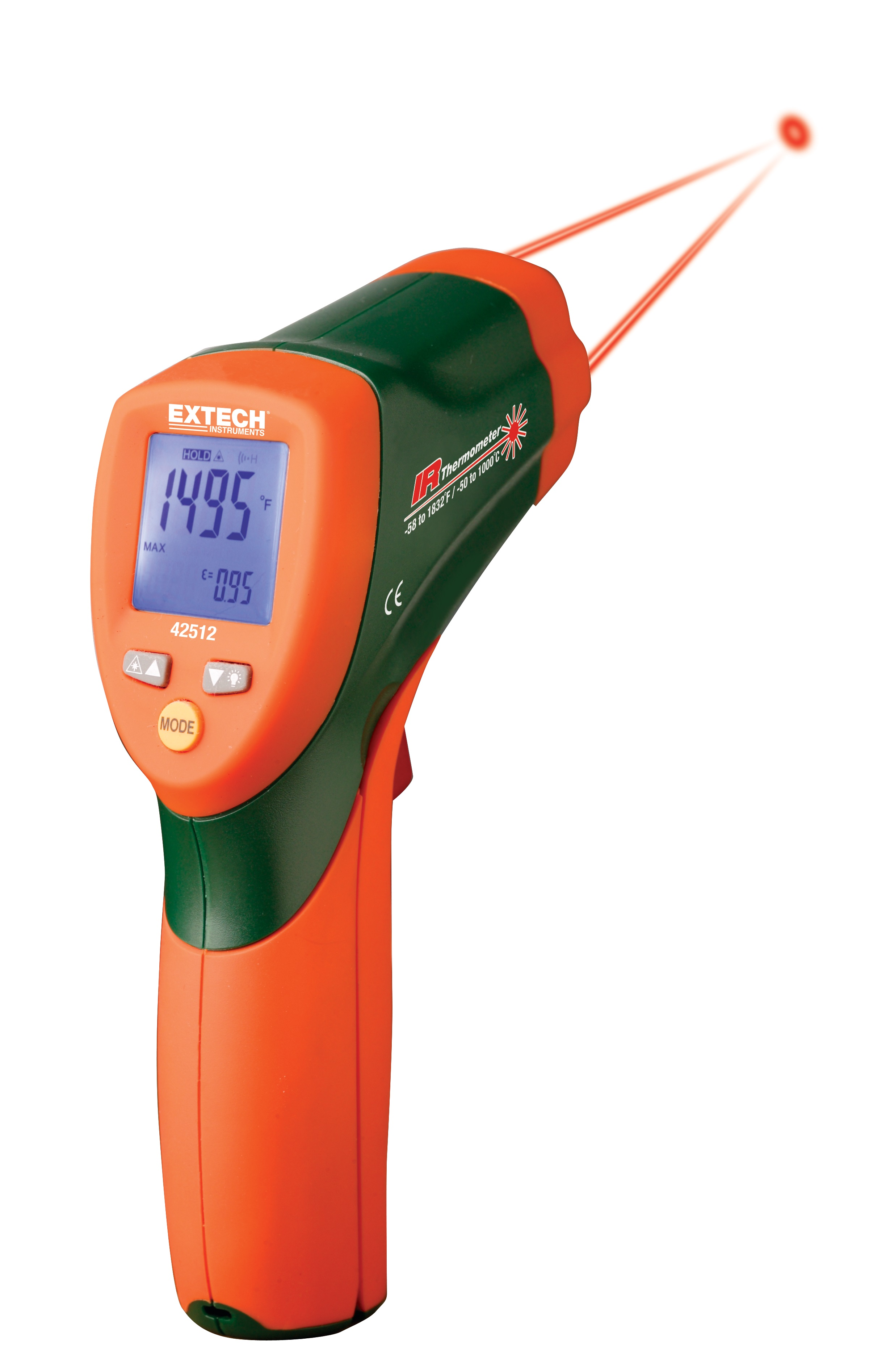 IR267 EXTECH Mini Infrared Thermometer,9V