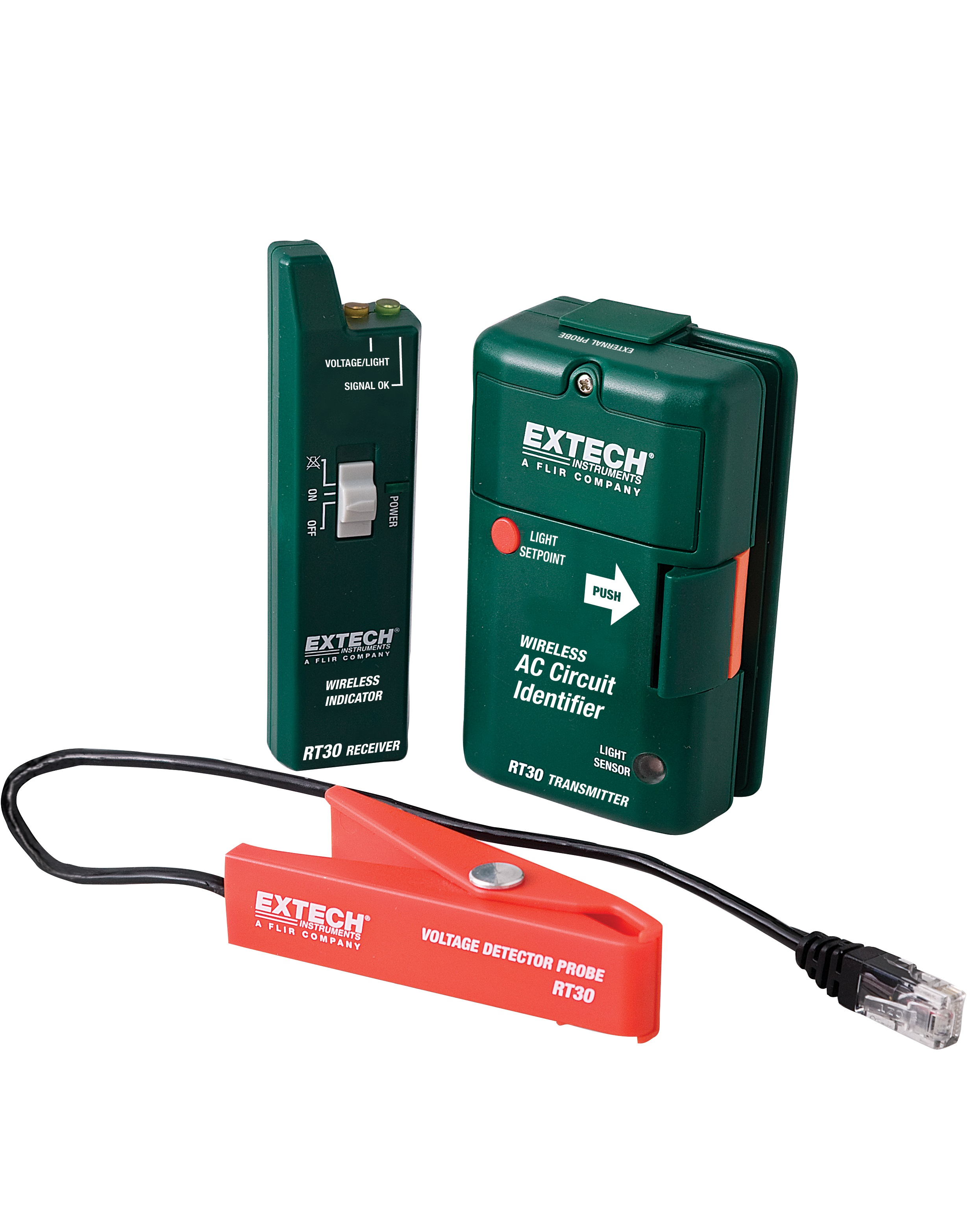 Extech Cb10 Ac Circuit Breaker Finder Receptacle Tester Check For 3 Wire 125v Circuits Rt30 Wireless Identifier 914mhz With External Probe