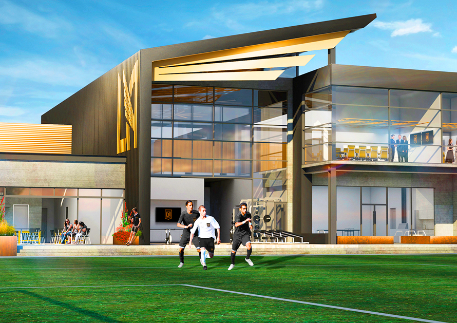 Illustration of the future LAFC training facility, courtesy of LAFC.