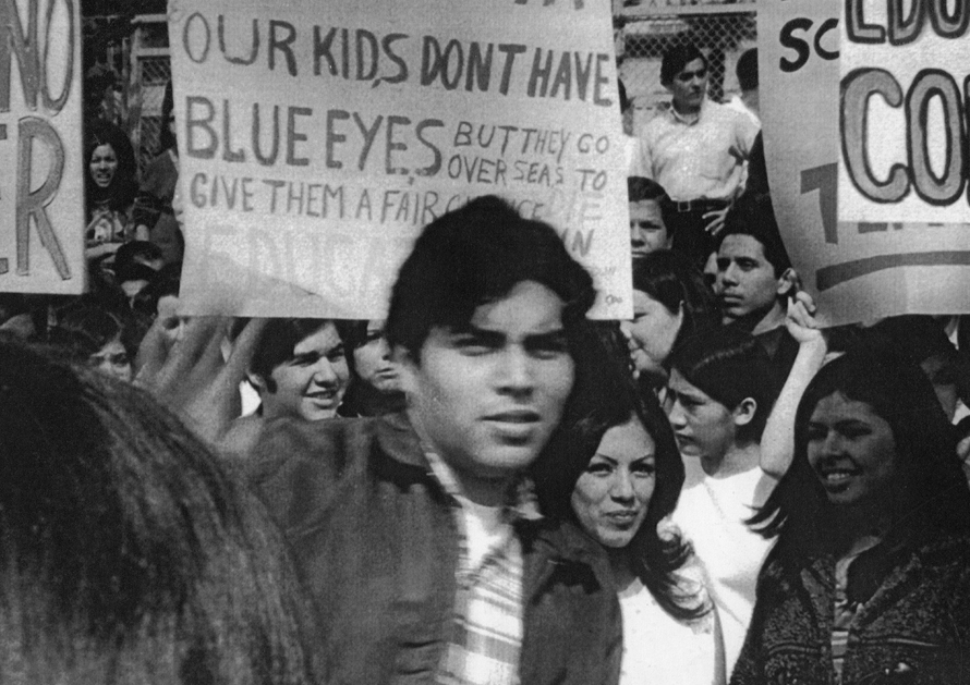 Photo depicting Chicano student protestors in 1968.