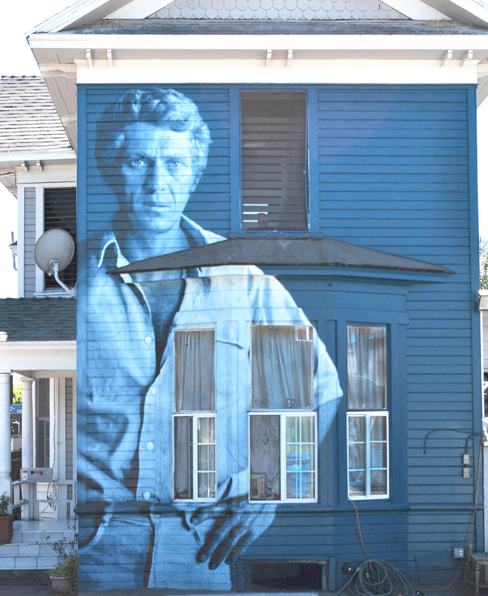 Kent Twitchell art of Steve McQueen