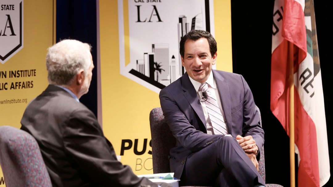 PBI Executive Director Raphael J. Sonenshein and State Assembly Speaker Anthony Rendon