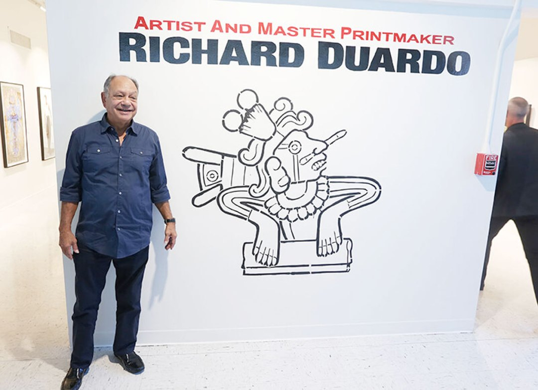 Cheech Matin at the Richard Duardo art exhibit