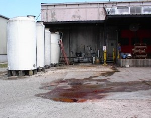 Hazardous Chemical Spill to Sewer Outside Manufacturing Plant