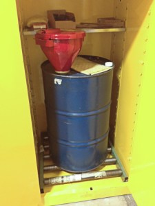 Hazardous Waste Storage Drum In hazardous waste storage Cabinet