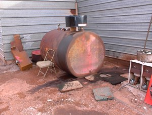 Leaking Used Oil Storage tank Observed During Phase I Facility Inspection