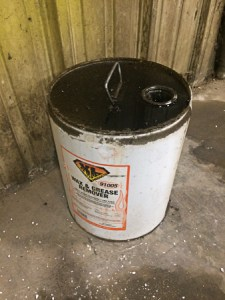 Mislabeled Waste Oil Storage Container