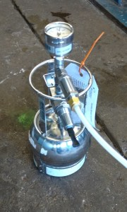Canister Used For Subslab Soil Vapor Testing To Evaluation Soil Vapor Encroachment potential