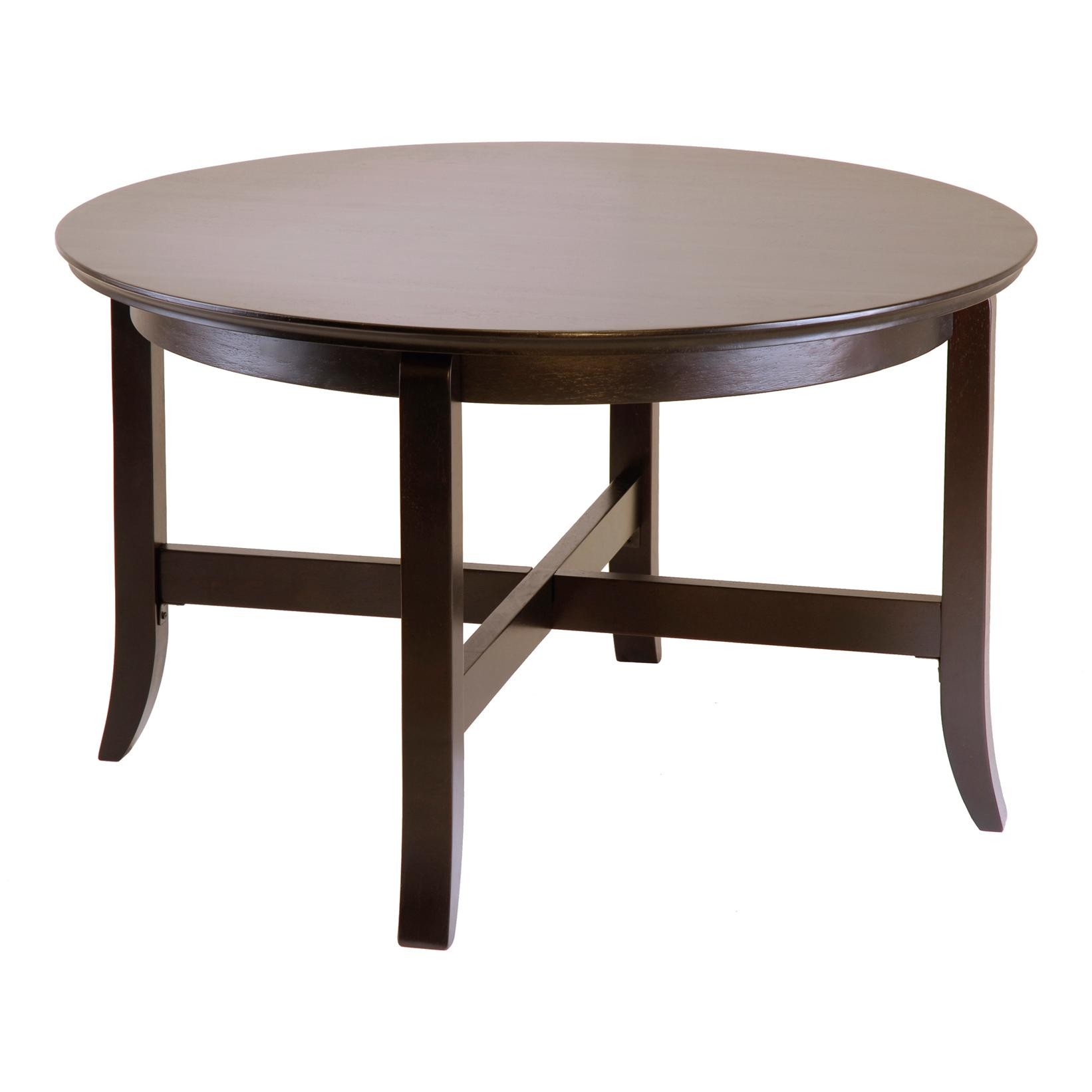 30 Inch Round Decorator Table Wood Composite