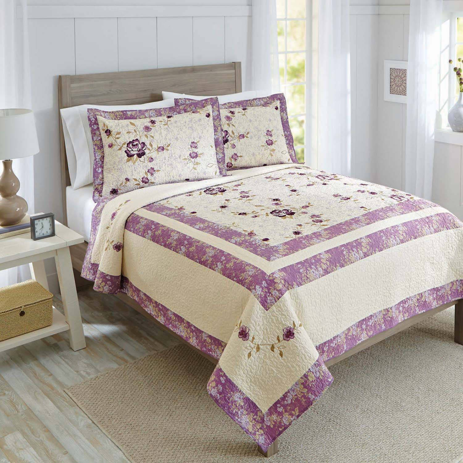 Better Homes And Gardens Jeweled Damask Bedding Quilt Collection