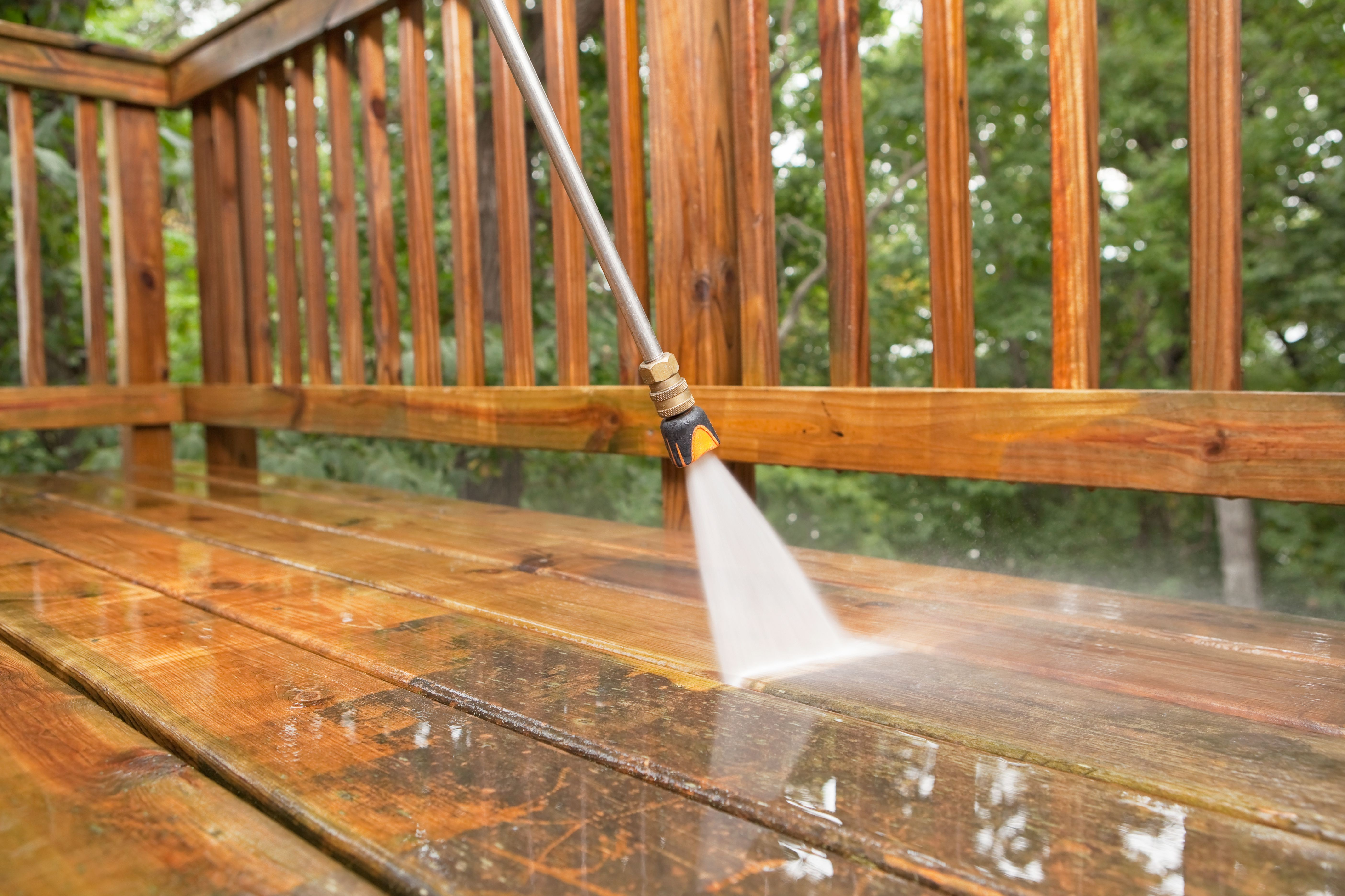 How To Power Wash Deck