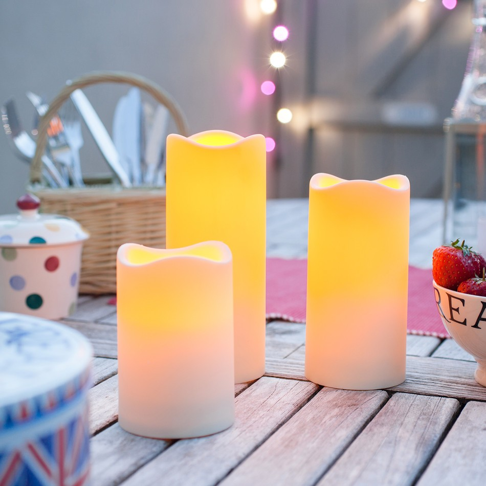 Outdoor Battery Operated Candles