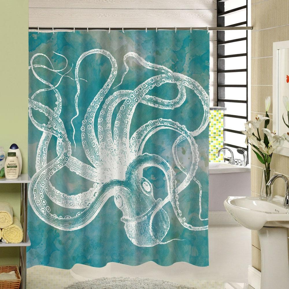 Shower Curtain And Window Curtain Set