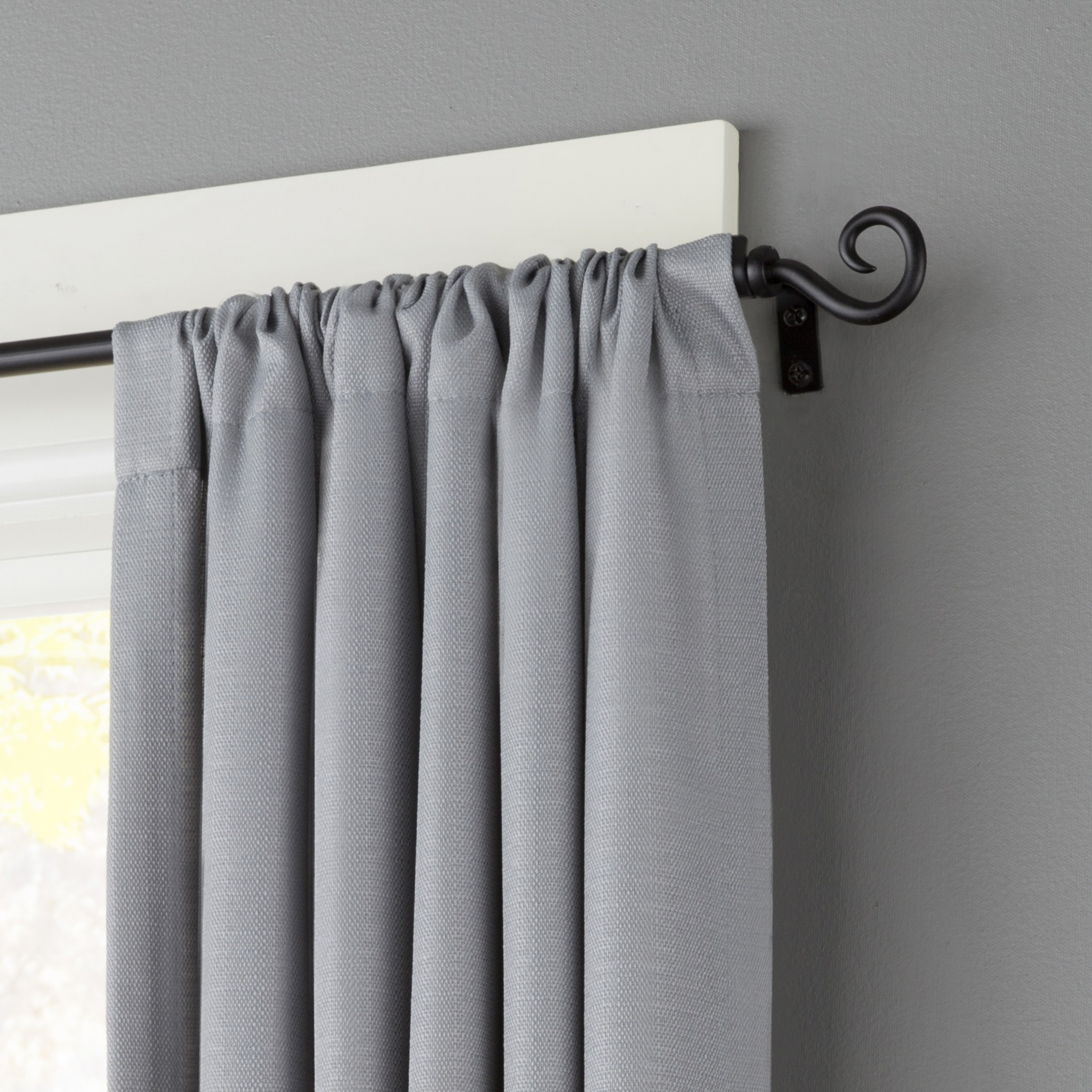 Two Curtain Rods One Window