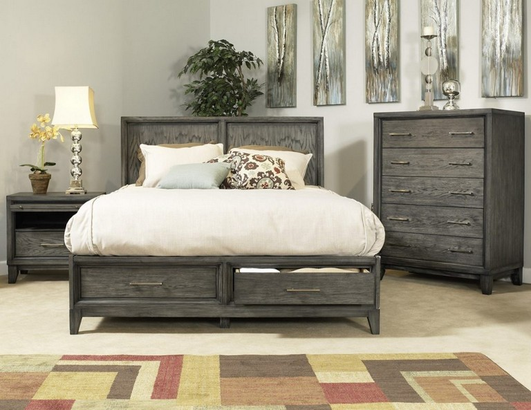 Grey Wood Bedroom Furniture