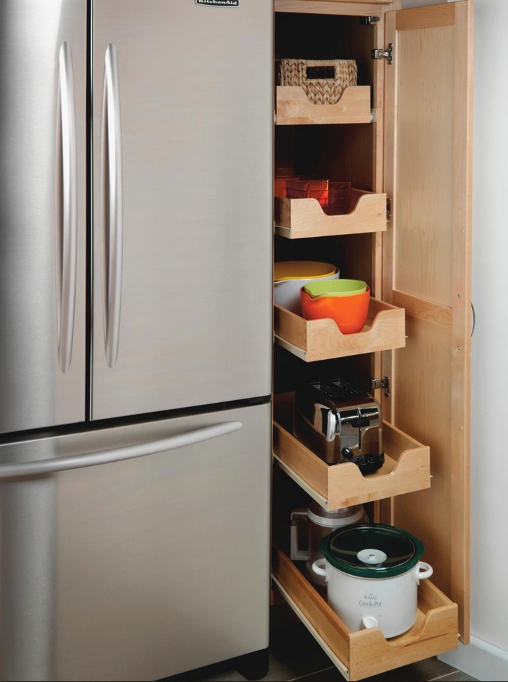 Kitchen Pull Out Pantry Cabinet
