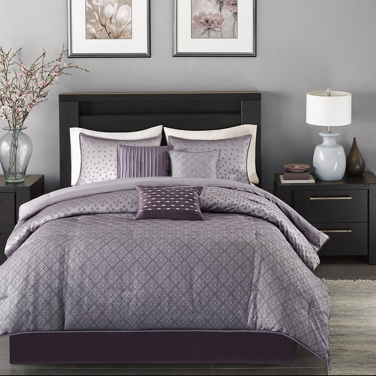 Purple And Grey Bedding Sets