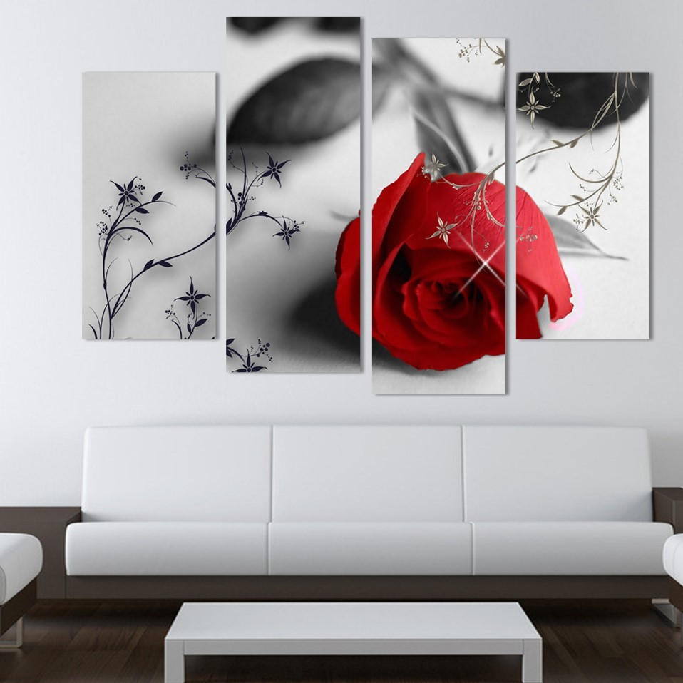 Red Rose Wall Art