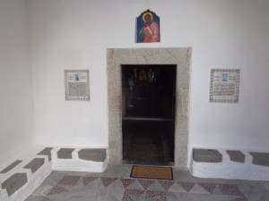 We were not allowed to take pictures inside but behind this door is the cave were tradition says the Apostle John wrote Revelation on Patmos