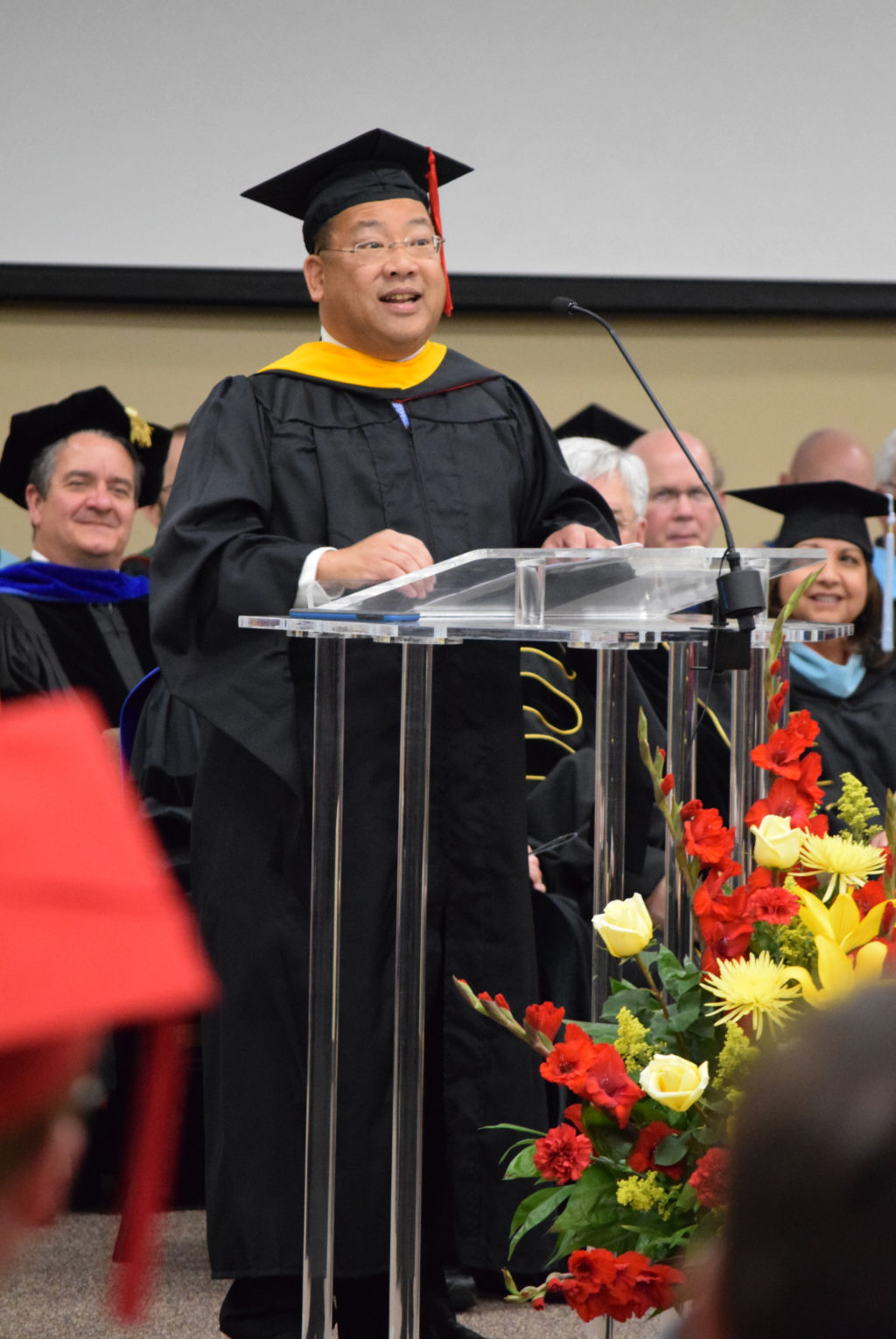 Graduate's Father Speaks at Baccalaureate