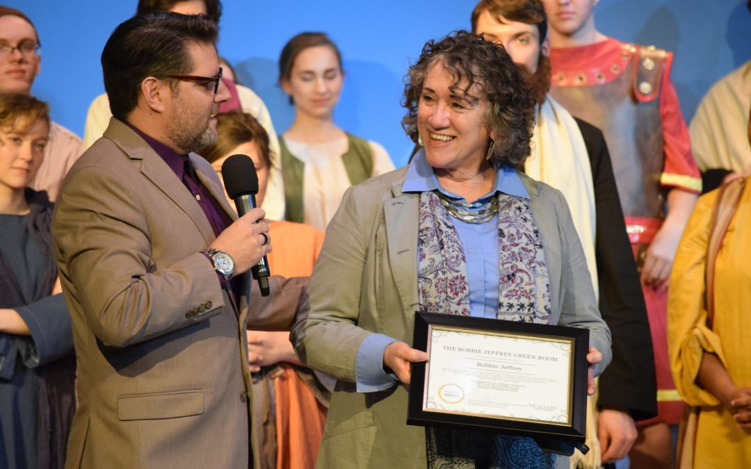 Theatre Green Room Renamed in Honor of Bobbie Jeffrey