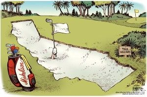Mickelson's taxes, Cagle, Jan. 28, 2013