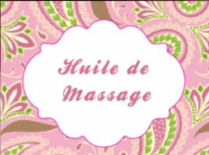 etiquette huile de massage