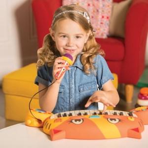 Pianinko dla dzieci z mikrofonem kotek