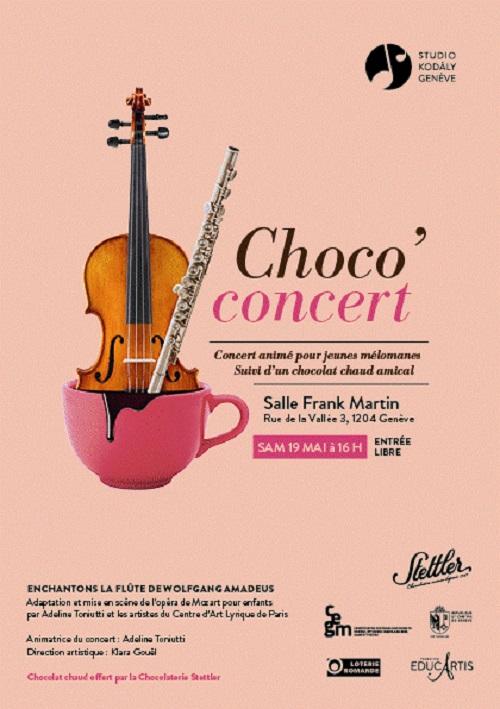 Affiche flute enchantée Chococoncert Geneve CALYP KODALY