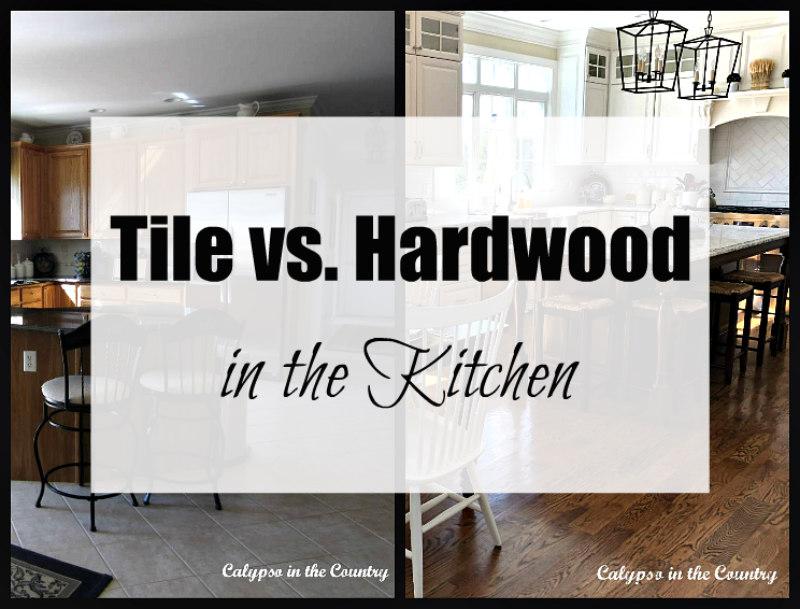 tile vs hardwood floors in the kitchen