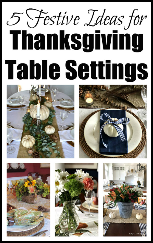 5 Festive Ideas For Thanksgiving Table Settings