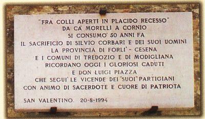 La lapide murata nel fianco della chiesa di Pieve di S.Valentino.
