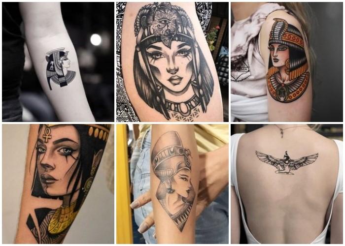 Los símbolos y significados populares. ᐈ Tatuajes Egipcios Tattoos De Cleopatra Camaleon Tattoo