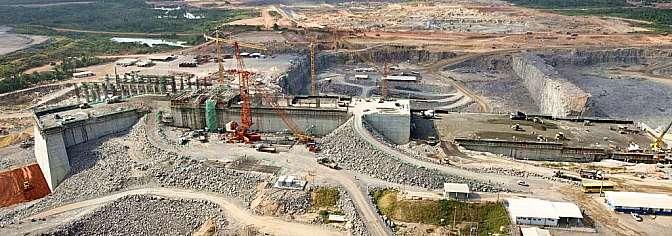 Economia - geral - obras construção usina hidrelétrica de Belo Monte em maio de 2015 infraestrutura
