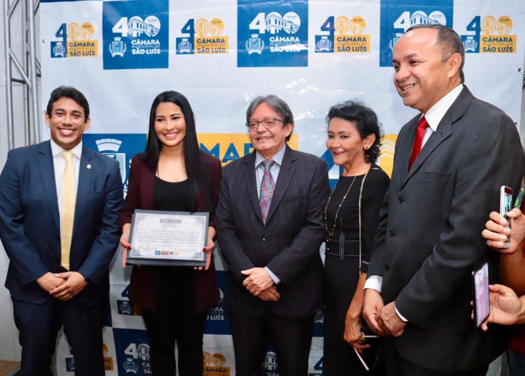 Câmara Municipal de São Luís homenageia Thaynara OG